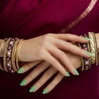 Adele green nails